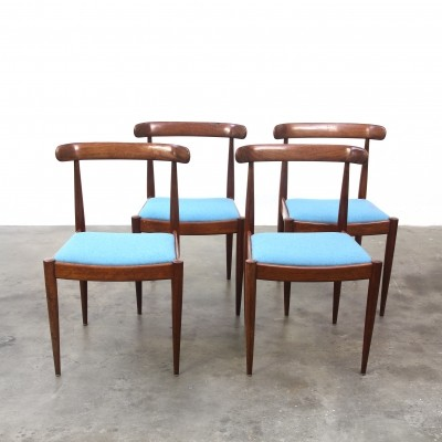 Set of 4 Palissander Dinner Chairs by Alfred Hendrickx for Belform