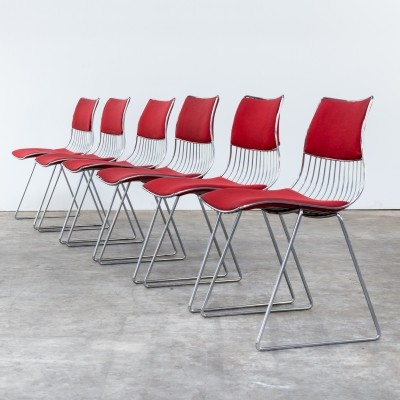 Set of 6 dining chairs by Rudi Verelst for Novalux Belgium, 1970s