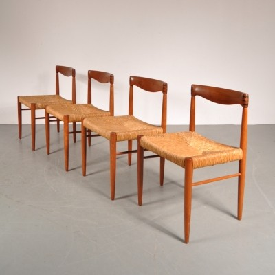 Set of 4 dining chairs by Henry W. Klein for Bramin, 1950s