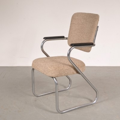 Arm chair by Paul Schuitema for Fana Metal, 1950s