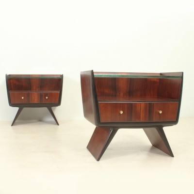 Rosewood Nightstands by La Permanente Mobili Cantú, Italy 1940s