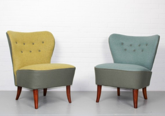 Pair Of Cocktail Lounge Chairs By Theo Ruth For Artifort, 1950s