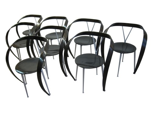 8 x Cassina 'revers' dining chairs by Andrea Branzi, 1993
