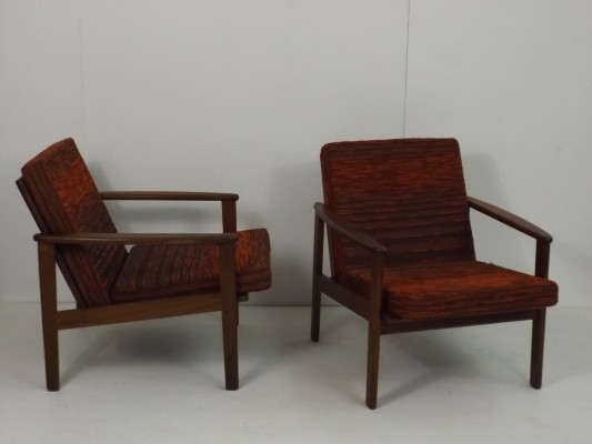 Pair of Scandinavian easy chairs, 1960s