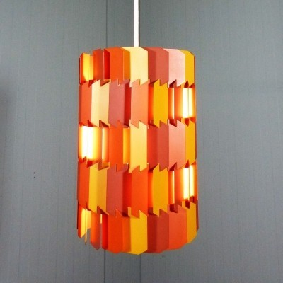 2 x Facet Pop hanging lamp by Louis Weisdorf for Lyfa, 1960s