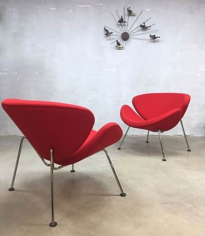 2 x lounge chair by Pierre Paulin for Artifort, 1980s
