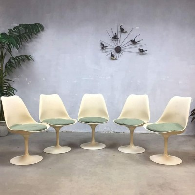 Set of 5 Tulip dinner chairs by Eero Saarinen for Knoll International, 1950s