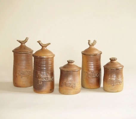 Set of pots by Jean & Jacqueline Lerat, France (circa 1953)