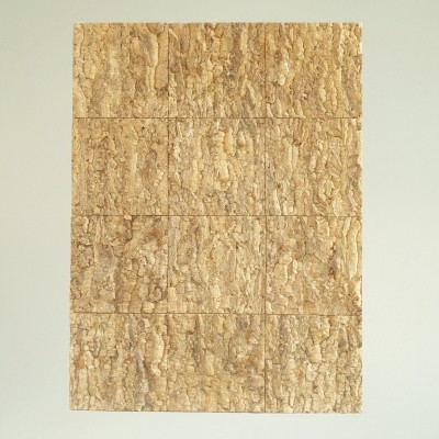 Oak cork wood Wall panel, France (circa 1960)