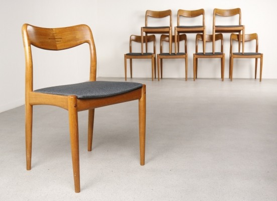 8 x dinner chair by Johannes Andersen for Uldum Møbelfabrik, 1950s