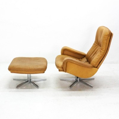 De Sede DS-50 Leather Loungechair With Ottoman, 1960s