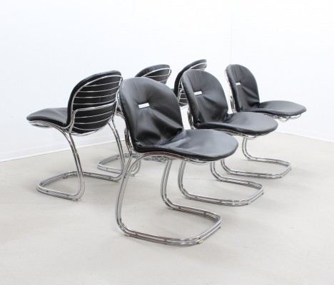 Set of 6 Sabrina dinner chairs by Gastone Rinaldi, 1970s