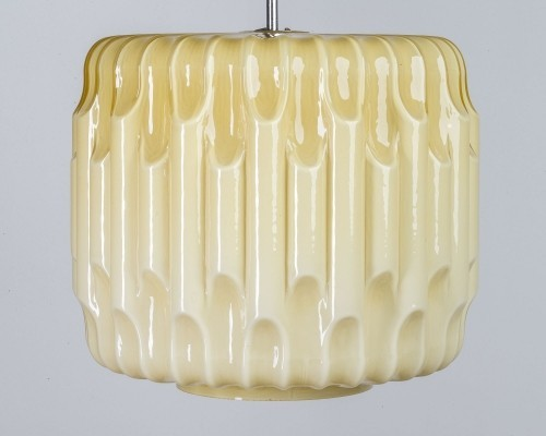 Large honey glass pendant, 1950s