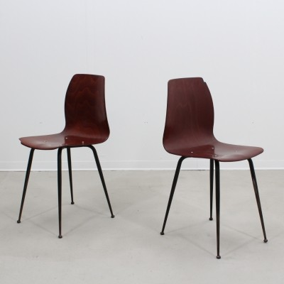 Pair of Pagholz dinner chairs, 1950s