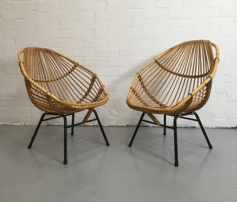 2 x Rohé Noordwolde lounge chair, 1950s