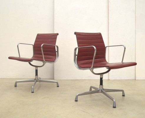 3 x EA108 office chair by Charles & Ray Eames for Vitra, 1980s
