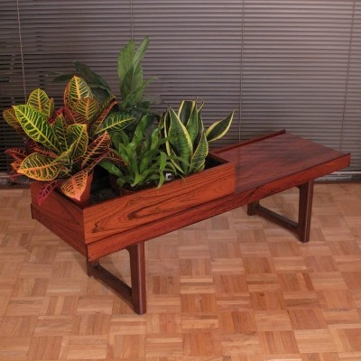Torbjørn Afdal Brazilian Rosewood 'Krobo' Bench with Planter