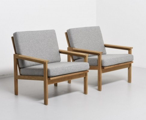 Pair of n°4 Capella lounge chairs by Illum Wikkelsø for N. Eilersen, 1950s