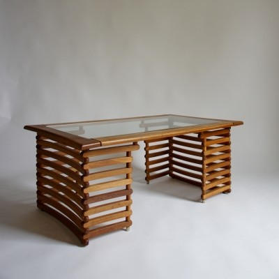 Slatted Coffee Table, 1980s