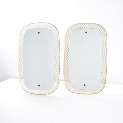 Pair of Mesh wire mirrors, 1960s