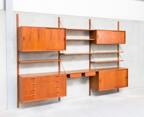 Wall unit by Sven Ellekaer for Albert Hansens Møbelfabrik, 1960s