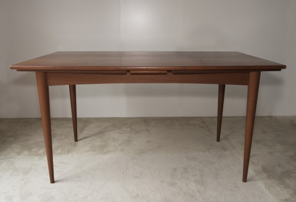 Extendable dining table in teak, 1950s