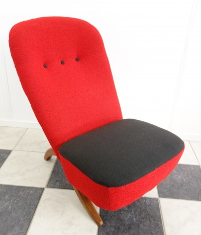 Red Congo chair by Theo Ruth for Artifort, 1952