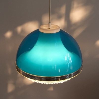 Hanging Lamp in blue Acrylic, 1970s