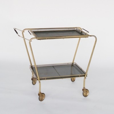 Brass & Metal Serving Trolley, 1950s