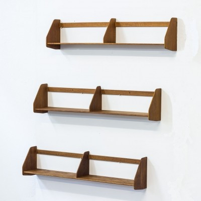 Set of 3 wall units by Hans Wegner for Ry Møbler, 1950s
