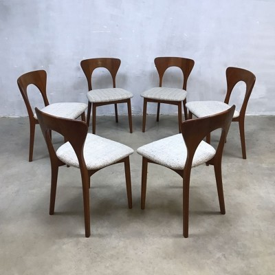 Set of 6 dining chairs by Niels Koefoed for Hornslet Møbelfabrik, 1950s