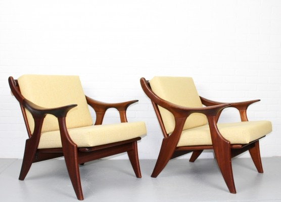 Pair of De Ster lounge chairs, 1960s