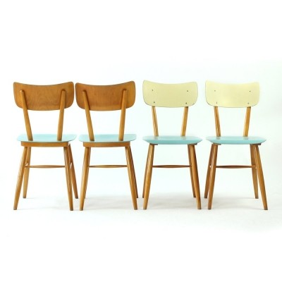 Set of 4 Ton Czechoslovakia dinner chairs, 1960s