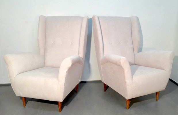 Pair of I.S.A. Bergamo Lounge Chairs, 1950s