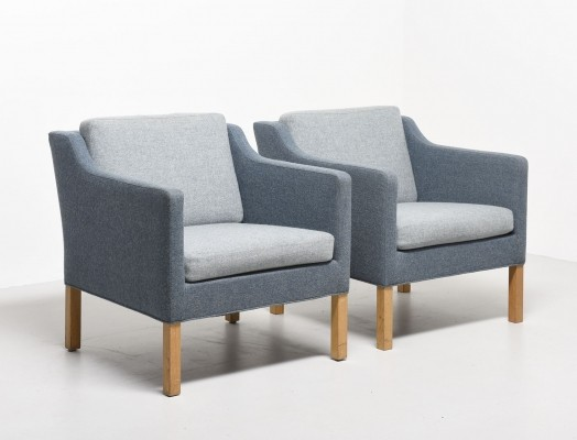 4 x Model 2521 lounge chair by Børge Mogensen for Fredericia, 1970s