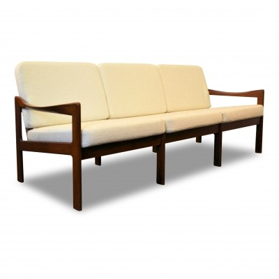 Danish design Illum Wikkelso 3-seating teak sofa