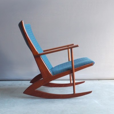 Model 97 rocking chair by Søren Georg Jensen for Tønder Møbelfabrik, 1950s