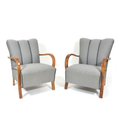 2 x Jindřich Halabala arm chair, 1950s