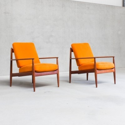 Pair of Model 118 arm chairs by Grete Jalk for France & Son, 1960s