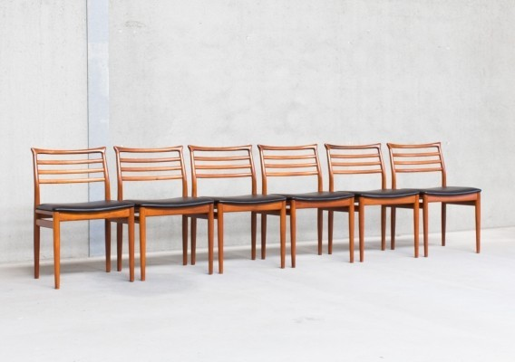 Set of 6 dinner chairs by Erling Torvits for Sorø Stolefabrik, 1960s