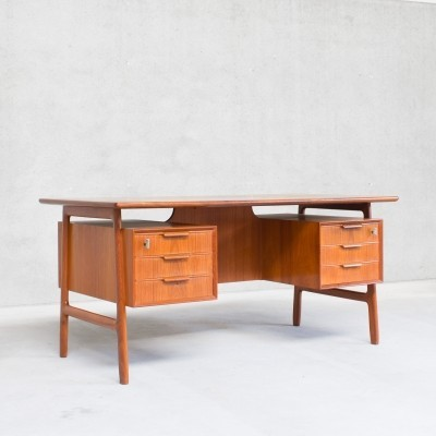 Model 75 writing desk by Gunni Omann for Omann Jun, 1960s