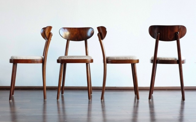 Set of 4 Ton N. P. Bystřice pod Hostýnem dinner chairs, 1960s
