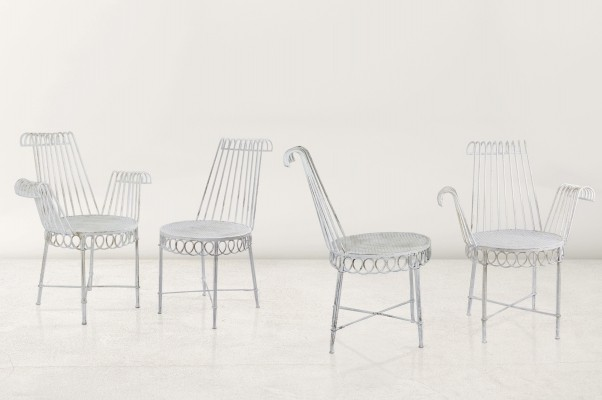 Set of four 'Cap D'Ail' chairs by Mathieu Mategot, 1950s