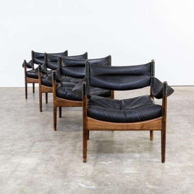 Set of 4 Modus lounge chairs by Kristian Vedel for Søren Willadsen, 1960s
