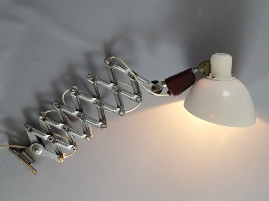 Scissor Wall Lamp for VEB Zweckleuchten Dresden, 40-100cm