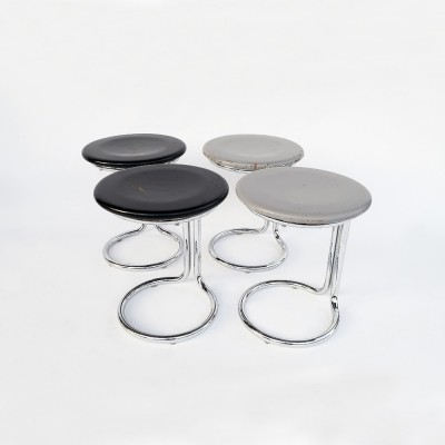 Set of 4 'Poly-hocker' stools by Gian Franco Legler, 1978