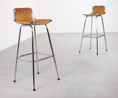 2 x Les Arcs stool by Charlotte Perriand, 1960s