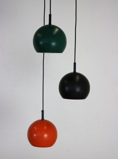 Seventies colored pendant light