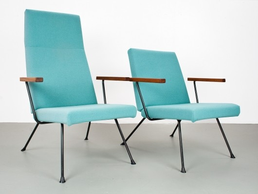 2 x 1409 & 1410 lounge chair by André Cordemeyer for Gispen, 1950s