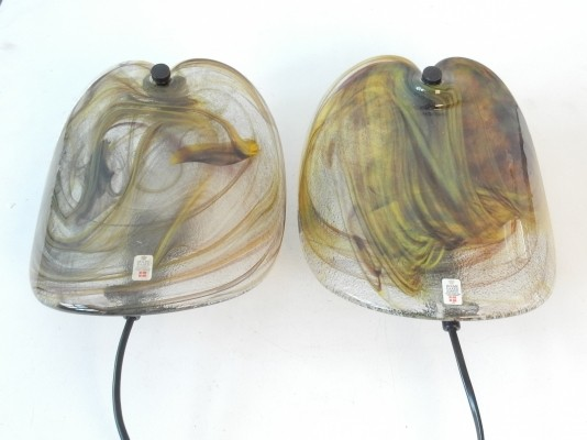 Pair of Glasplattelampet wall lamps by Per Lütken for Holmegaard, 1970s